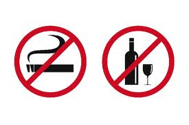no alcohol and smoking for healthy heart